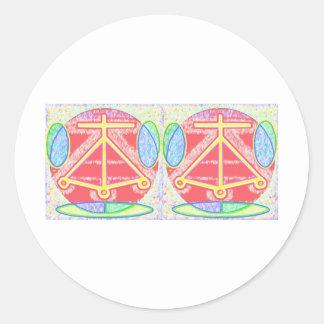 Double HEARTH: Karuna Reiki Classic Round Sticker