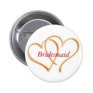 Double Hearts Bridesmaid Pins