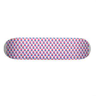 Double Hearts in Pink and Blue Skateboard