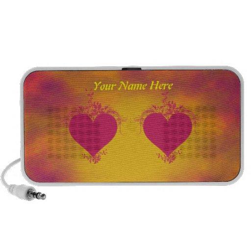 Double Hearts Laptop Speaker