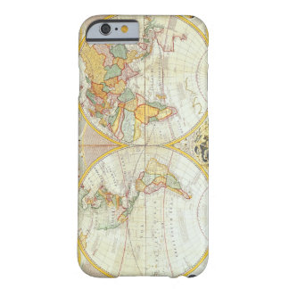 Double Hemisphere World Map Barely There iPhone 6 Case