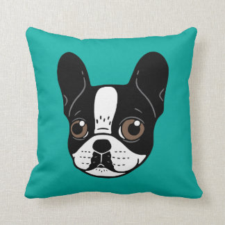 Double Hooded Pied French Bulldog Puppy Cushion