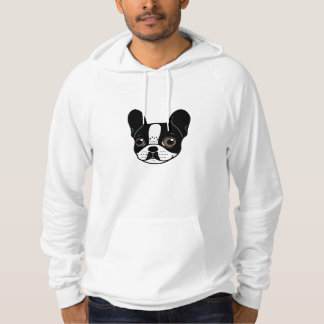 Double Hooded Pied French Bulldog Puppy Hoodie
