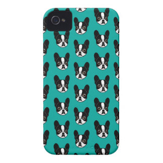 Double Hooded Pied French Bulldog Puppy iPhone 4 Case