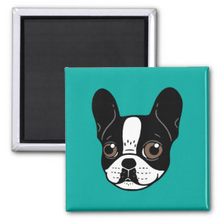 Double Hooded Pied French Bulldog Puppy Magnet