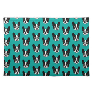 Double Hooded Pied French Bulldog Puppy Placemat