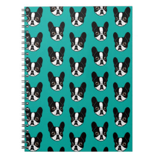 Double Hooded Pied French Bulldog Puppy Spiral Notebook
