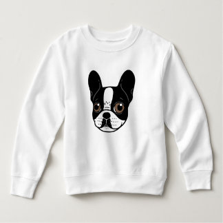 Double Hooded Pied French Bulldog Puppy Sweatshirt