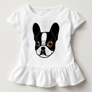 Double Hooded Pied French Bulldog Puppy Toddler T-Shirt