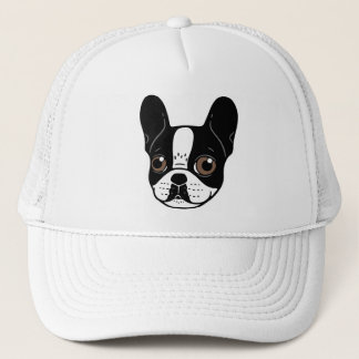 Double Hooded Pied French Bulldog Puppy Trucker Hat