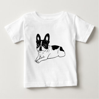 Double Hooded Pied Frenchie Baby T-Shirt