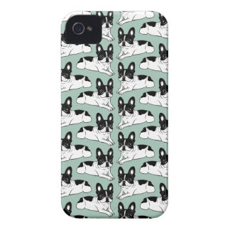 Double Hooded Pied Frenchie iPhone 4 Cover