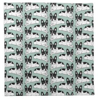Double Hooded Pied Frenchie Napkin