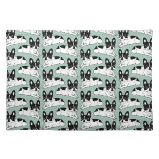 Double Hooded Pied Frenchie Placemat