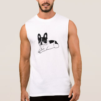 Double Hooded Pied Frenchie Sleeveless Shirt