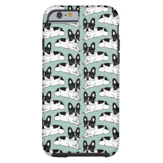 Double Hooded Pied Frenchie Tough iPhone 6 Case