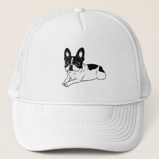 Double Hooded Pied Frenchie Trucker Hat