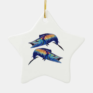 DOUBLE HOOK UP CERAMIC STAR DECORATION
