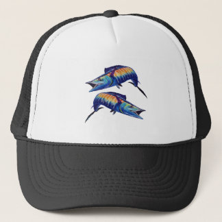 DOUBLE HOOK UP TRUCKER HAT