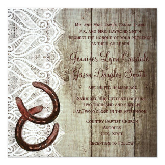 Double Horse Shoe Wedding Invitations