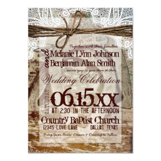 Double Horseshoes Rustic Wedding Invitations