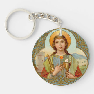 Double Image St. Barbara (BK 001) Key Ring