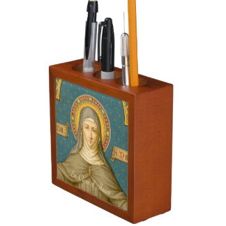 Double Image St. Clare of Assisi (SAU 027) Desk Organiser