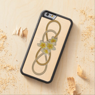 Double Infinity BiColor Frangipani Carved Maple iPhone 6 Bumper Case