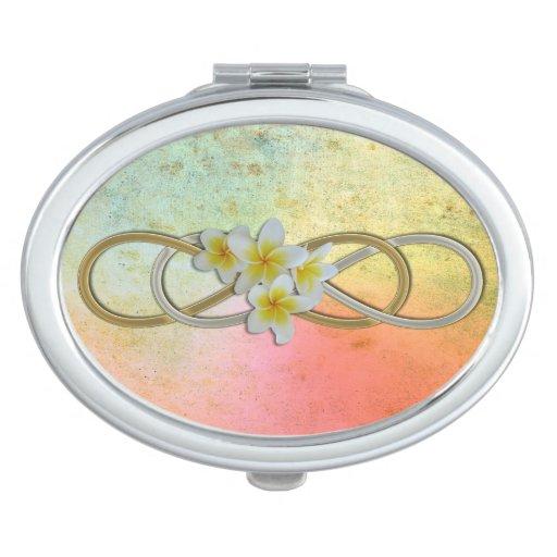 Double Infinity BiColor Frangipani Mirrors For Makeup