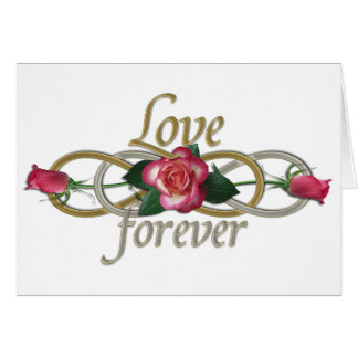 Double Infinity - Roses Love forever Card