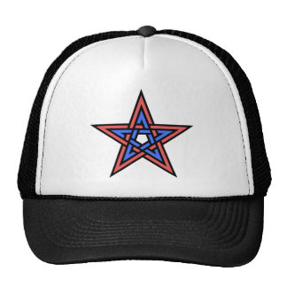 Double-interlaced-pentagram Cap