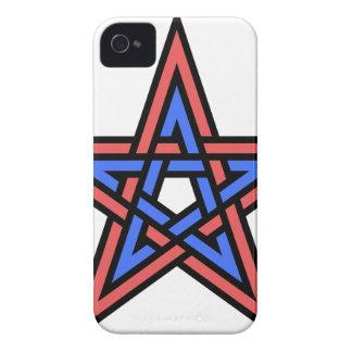 Double-interlaced-pentagram Case-Mate iPhone 4 Case