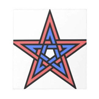 Double-interlaced-pentagram Notepad