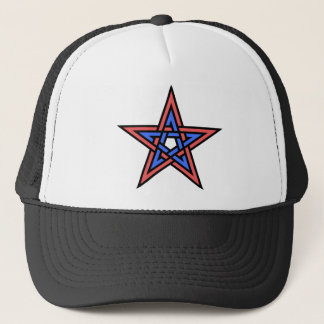 Double-interlaced-pentagram Trucker Hat