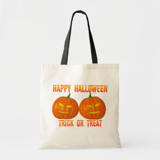 Double Jack O Lanterns Trick Or Treat Bag