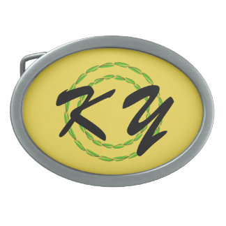 Double Leaf Circle by Kenneth Yoncich Belt Buckle