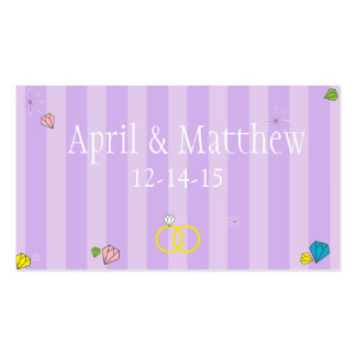 Double Lilac Stripes Business Cards