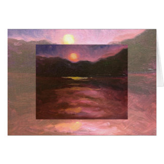 double moonrise card