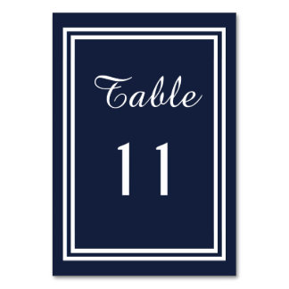 Double Navy Trim - Table Card