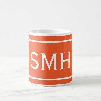 Double Orange Chevron Stripe Coffee Mug