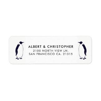 Double Penguins Funny Reference   Return Address Return Address Label