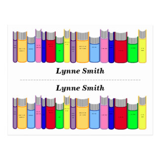 Double Personalised bookmarks Postcard