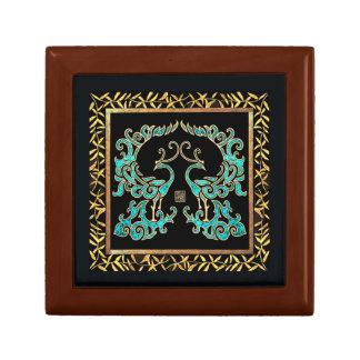 Double Phoenix Small Square Gift Box