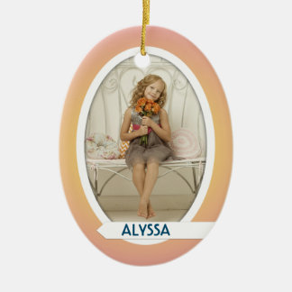 Double Photo Oval Christmas Ornament