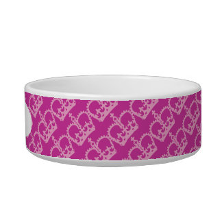 Double Pink Crowns Bowl