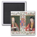 Double portrait of Elizabeth of York (1465-1503) a Magnet