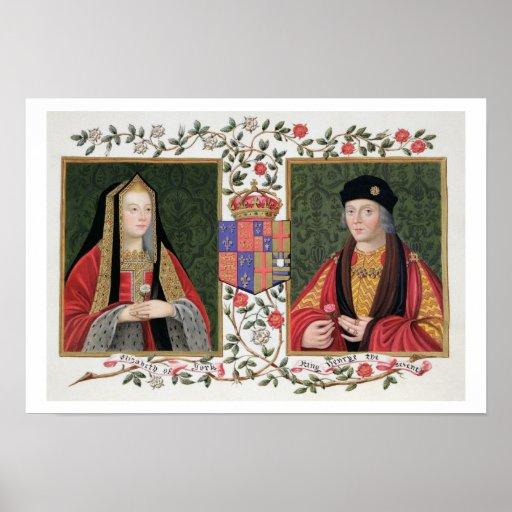 Double portrait of Elizabeth of York (1465-1503) a Poster
