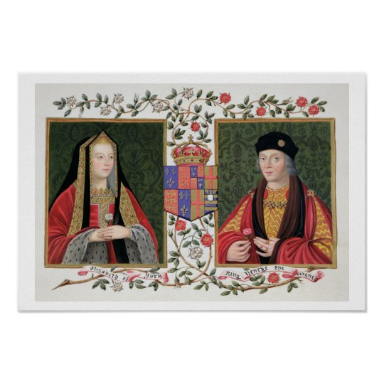 Double portrait of Elizabeth of York (1465-1503) a Poster