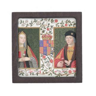 Double portrait of Elizabeth of York (1465-1503) a Premium Jewelry Boxes