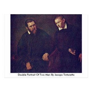 Double Portrait Of Two Men By Jacopo Tintoretto Postcard
